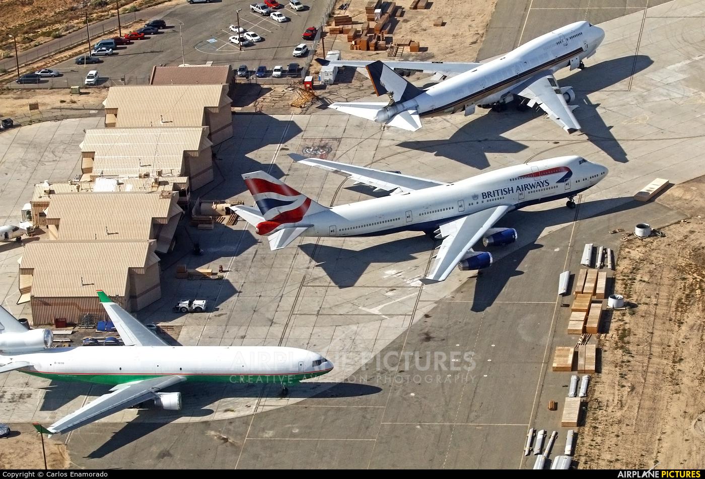 British Airways G-BNLU aircraft at Victorville - Southern California Logistics