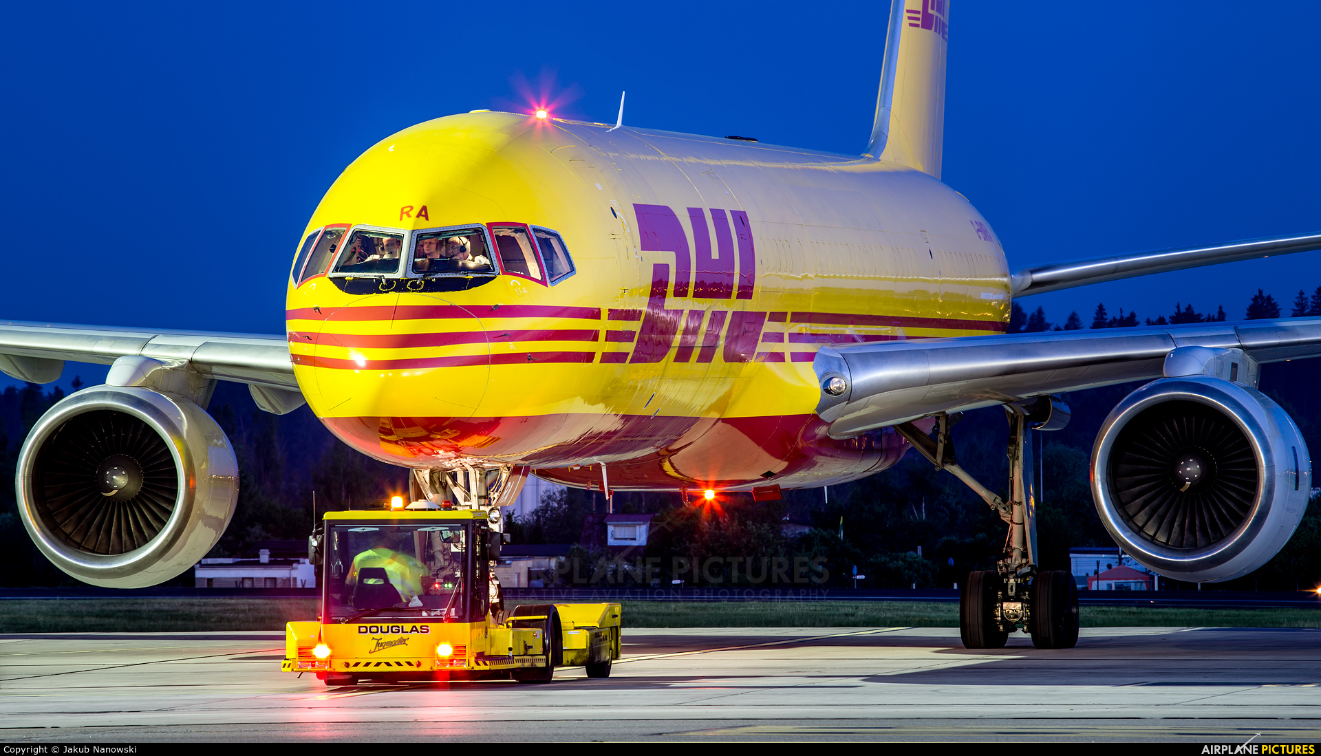 DHL Cargo G-BMRA aircraft at Gdańsk - Lech Wałęsa