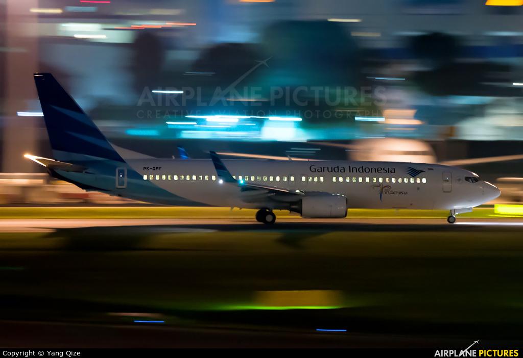 Garuda Indonesia PK-GFF aircraft at Singapore - Changi
