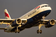 G-EUYF - British Airways Airbus A320 aircraft
