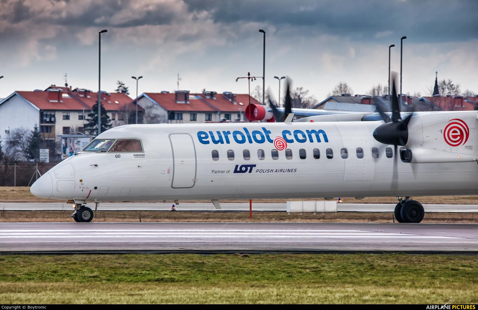 euroLOT SP-EQD aircraft at Zagreb