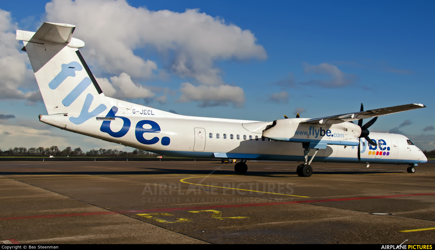 Flybe G-JECL aircraft at Rotterdam