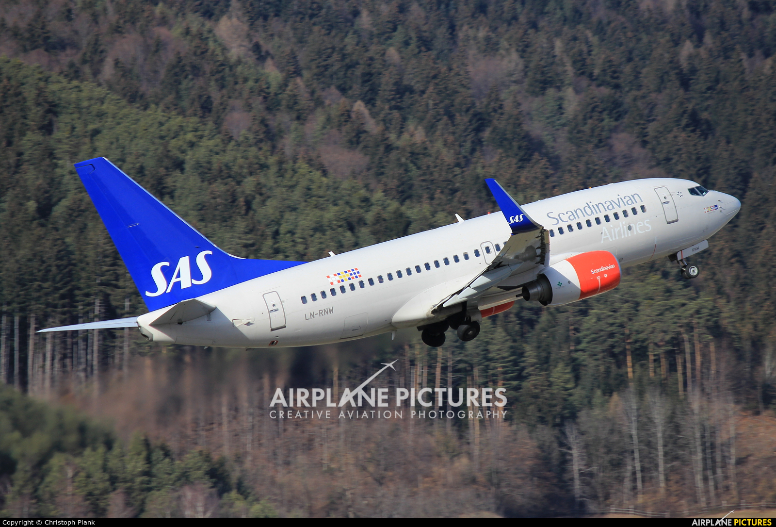 SAS - Scandinavian Airlines LN-RNW aircraft at Innsbruck