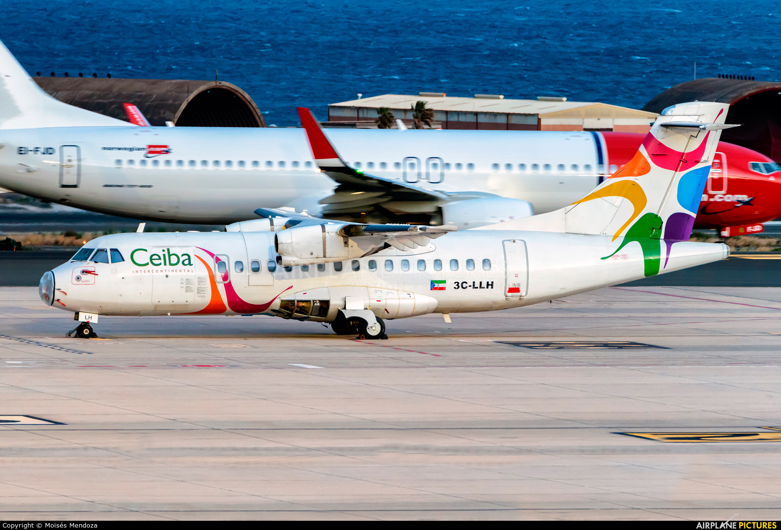 Ceiba Intercontinental 3C-LLH aircraft at Las Palmas de Gran Canaria