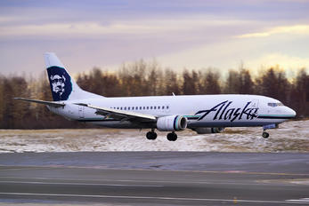 N765AS - Alaska Airlines Boeing 737-400(Combi)