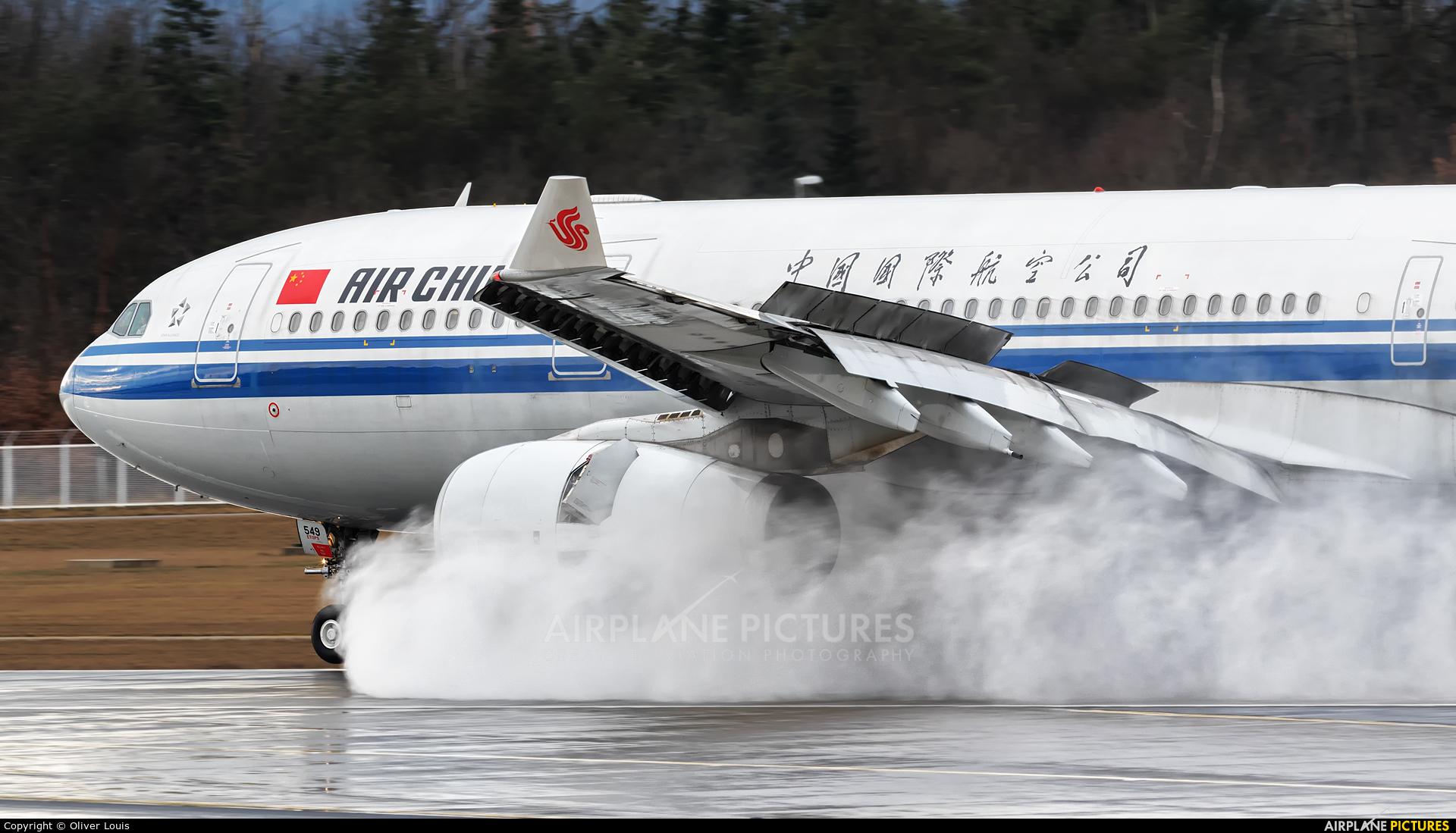 Air China B-6549 aircraft at Frankfurt