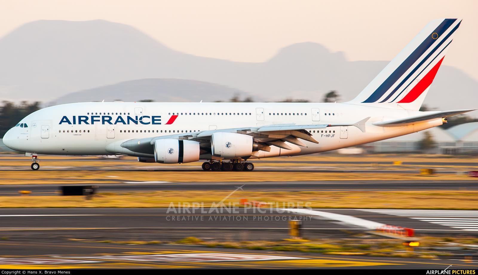 Air France F-HPJF aircraft at Mexico City - Licenciado Benito Juarez Intl