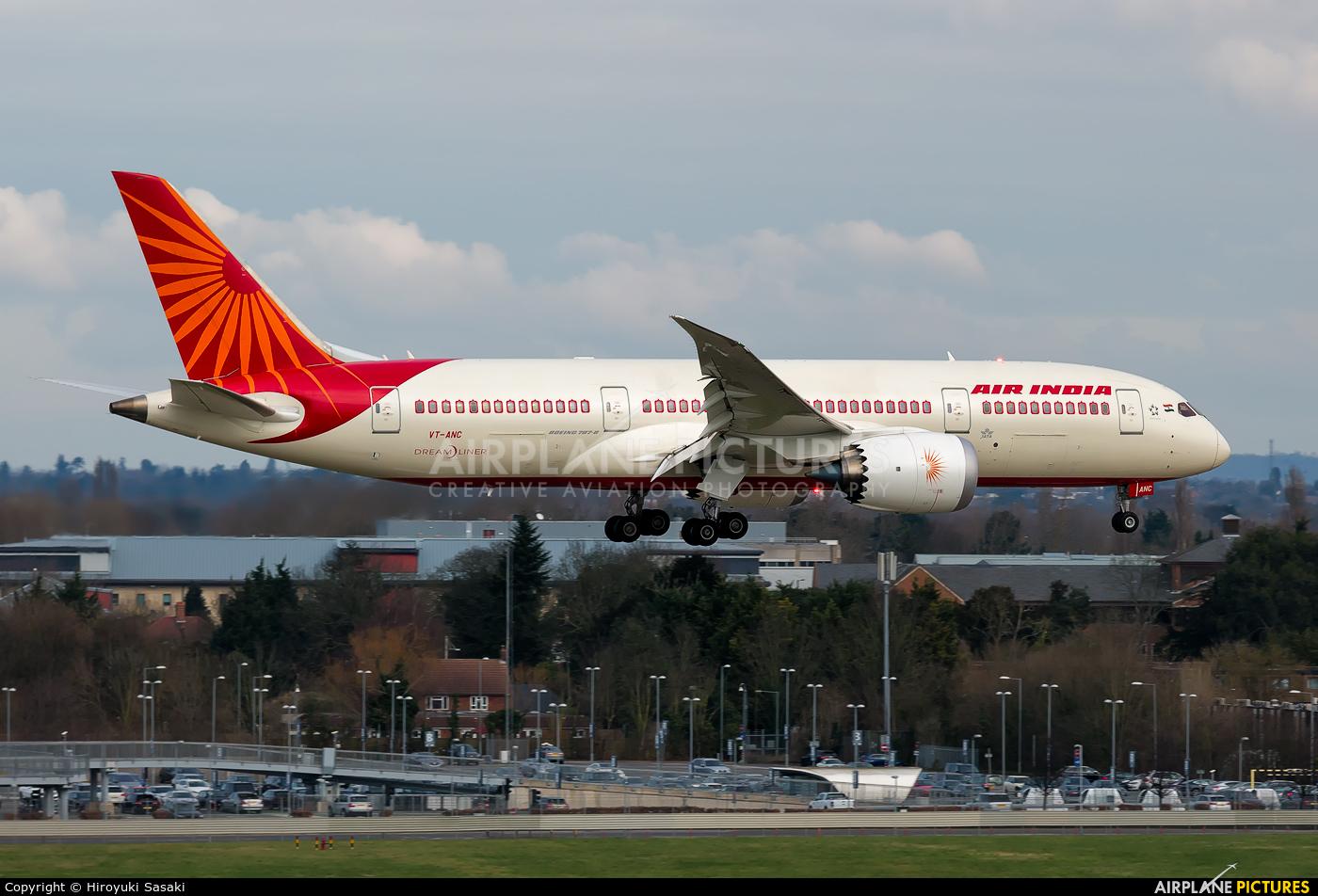Air India VT-ANC aircraft at London - Heathrow