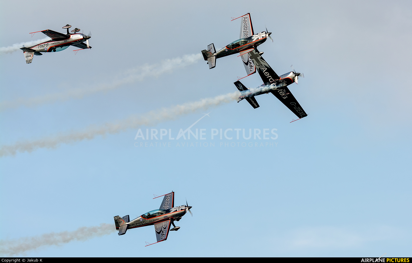 """2 Excel Aviation """"The Blades Aerobatic Team"""" G-ZEXL aircraft at Portrush - Off Airport"""