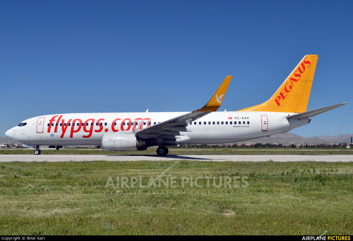 Pegasus TC-AAY aircraft at Konya