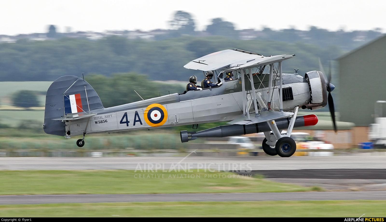 "Royal Navy ""Historic Flight"" W5856 aircraft at Yeovilton"