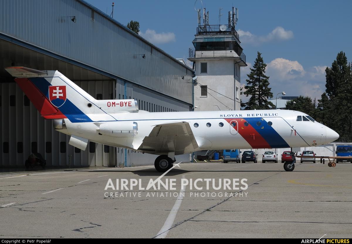 Slovakia - Government OM-BYE aircraft at Bratislava -M. R. Štefánik