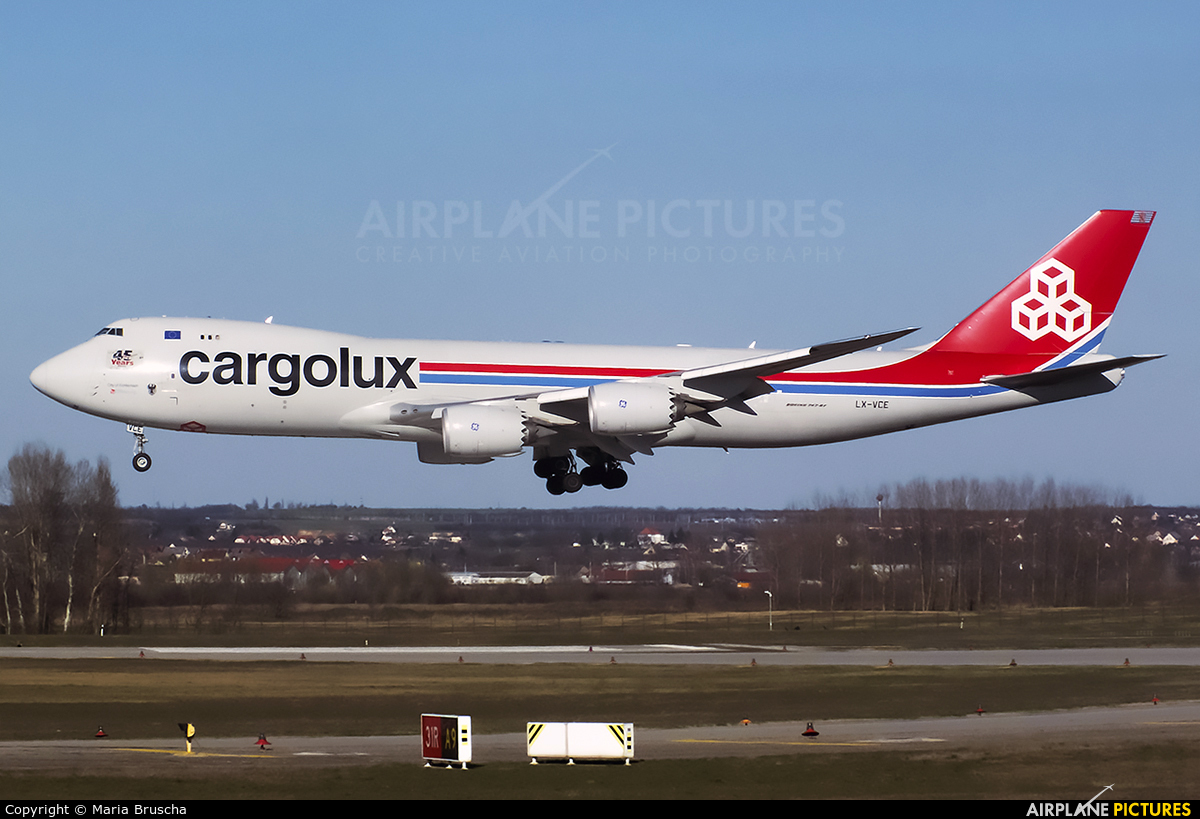 Cargolux LX-VCE aircraft at Budapest Ferenc Liszt International Airport