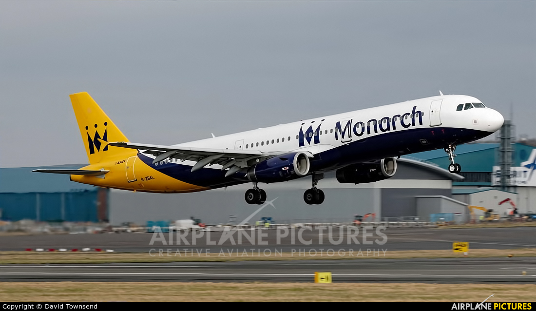 Monarch Airlines G-ZBAL aircraft at Prestwick