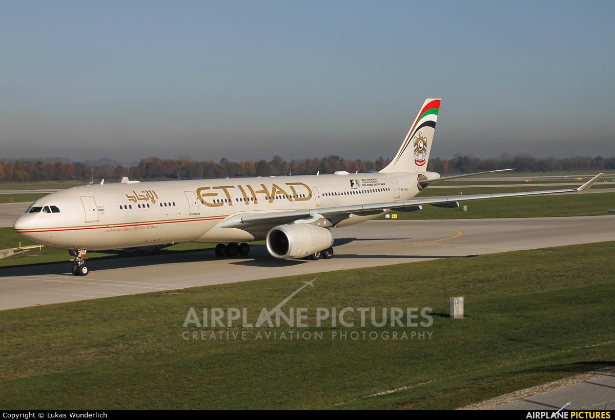 Etihad Airways A6-AFD aircraft at Munich