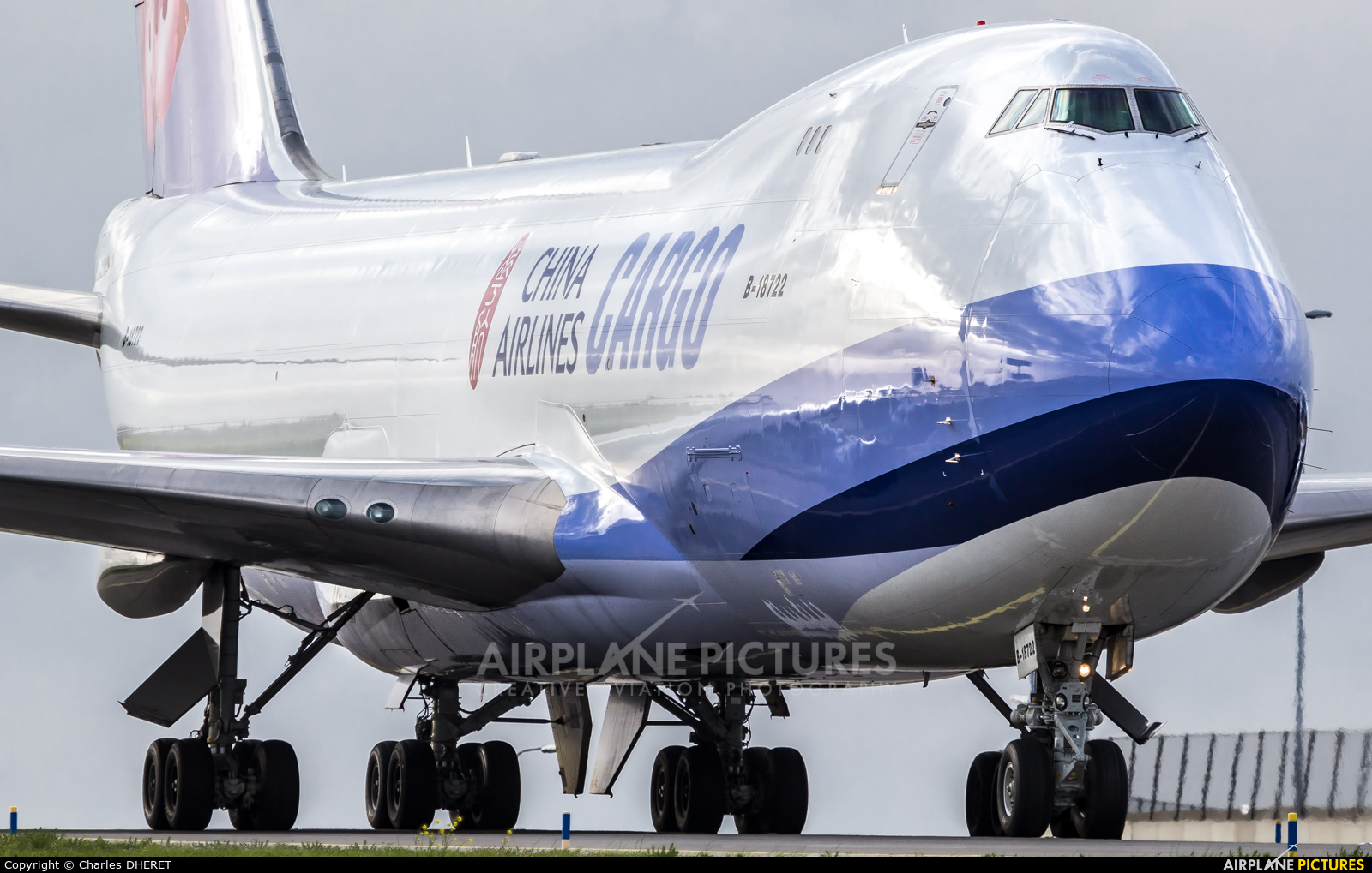 China Airlines Cargo B-18722 aircraft at Amsterdam - Schiphol