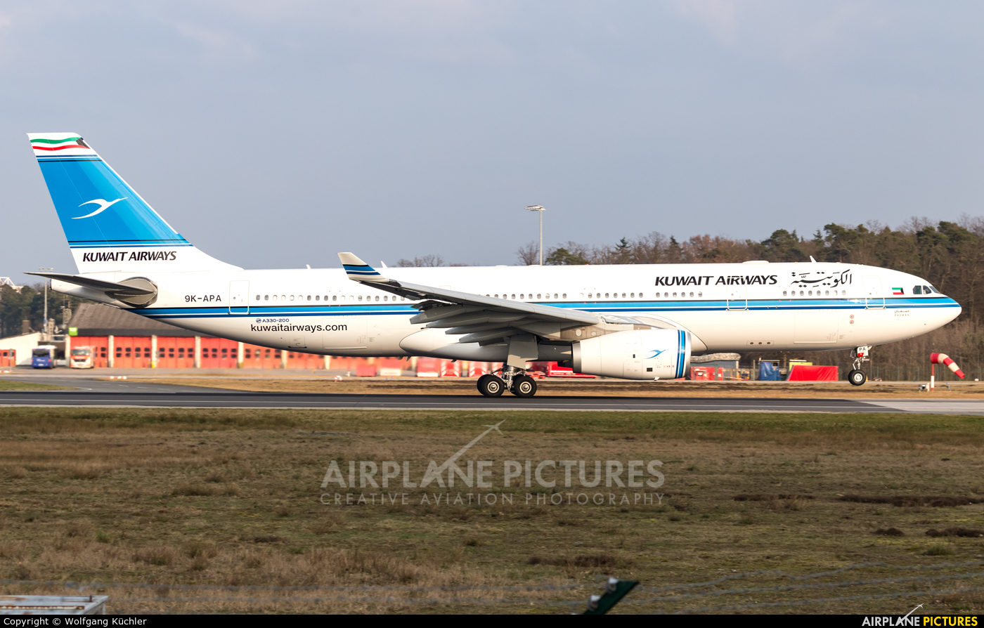 Kuwait Airways 9K-APA aircraft at Frankfurt