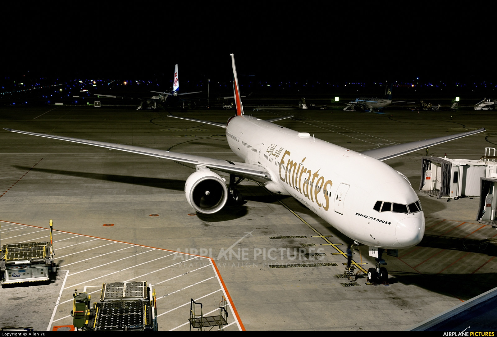 Emirates Airlines A6-ECV aircraft at Shanghai - Pudong Intl