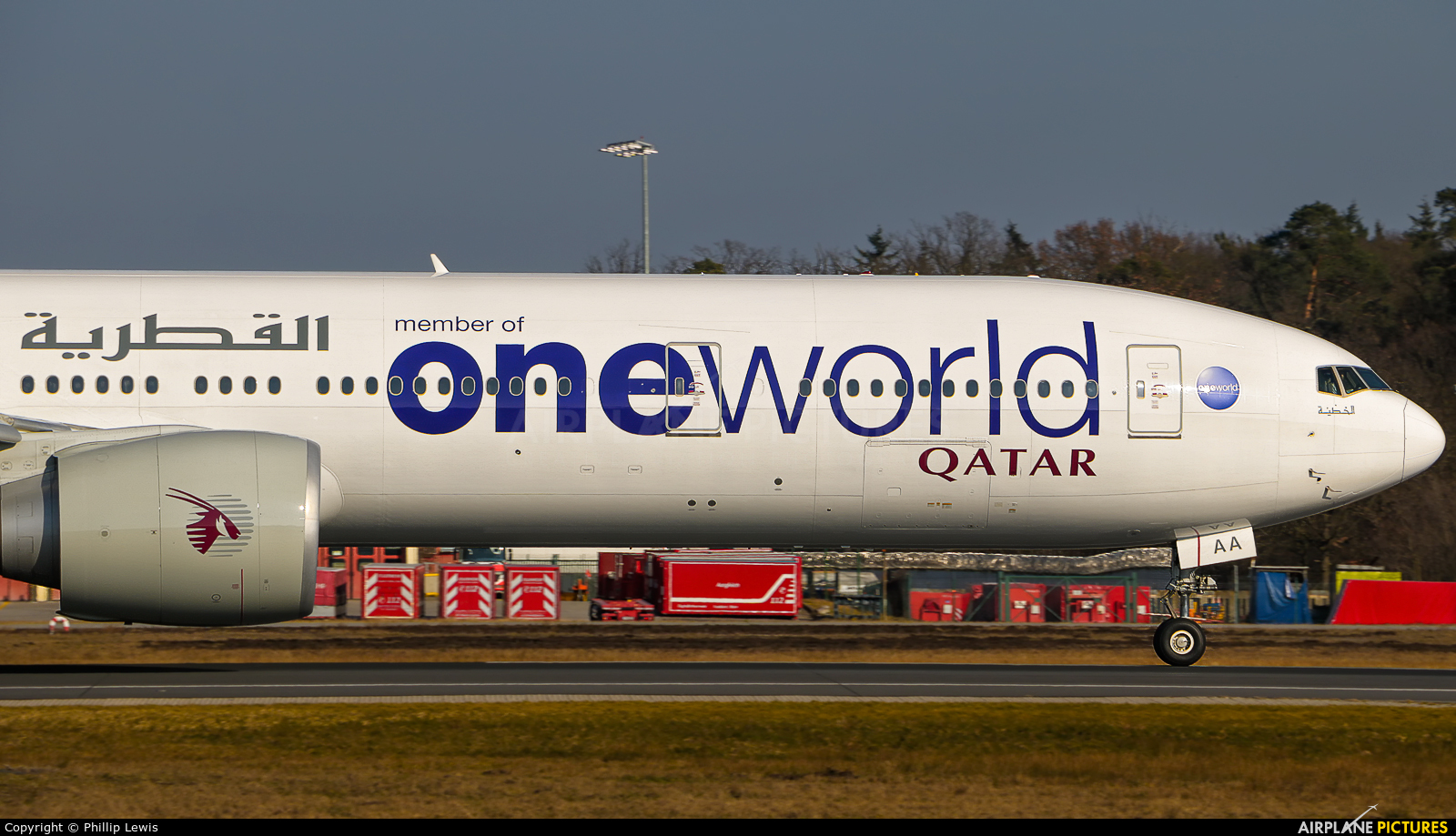 Qatar Airways A7-BAA aircraft at Frankfurt