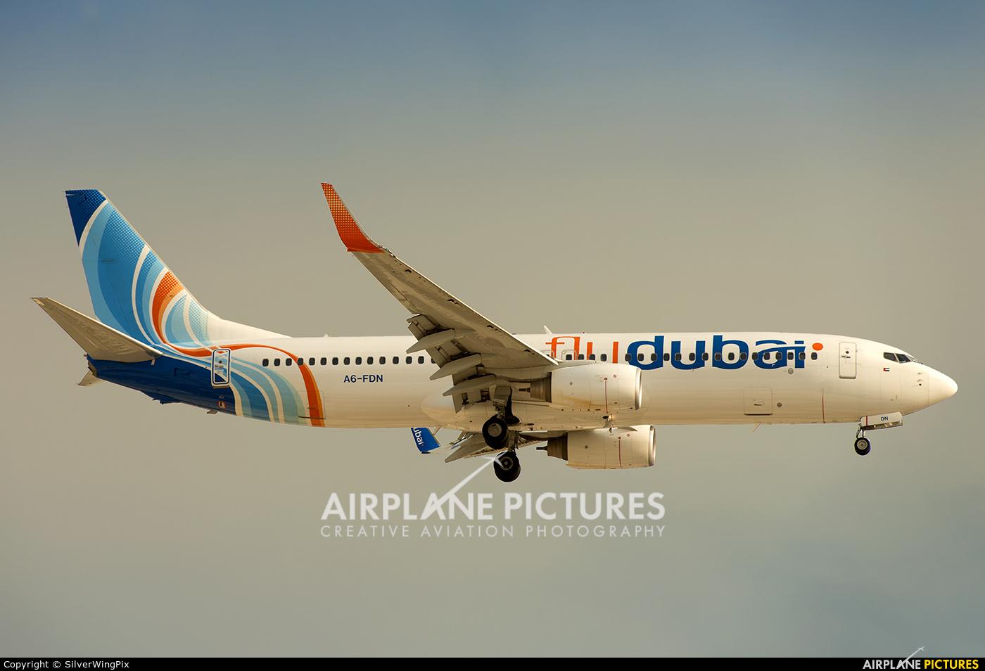 flyDubai A6-FDN aircraft at Dubai Intl