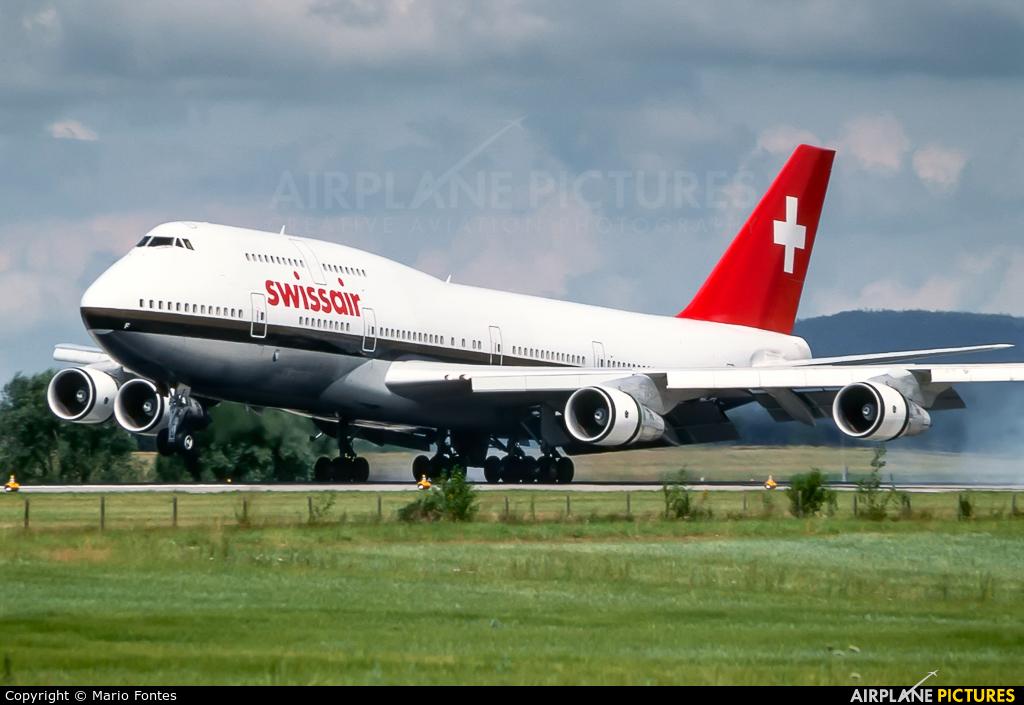 Swissair HB-IGF aircraft at Zurich