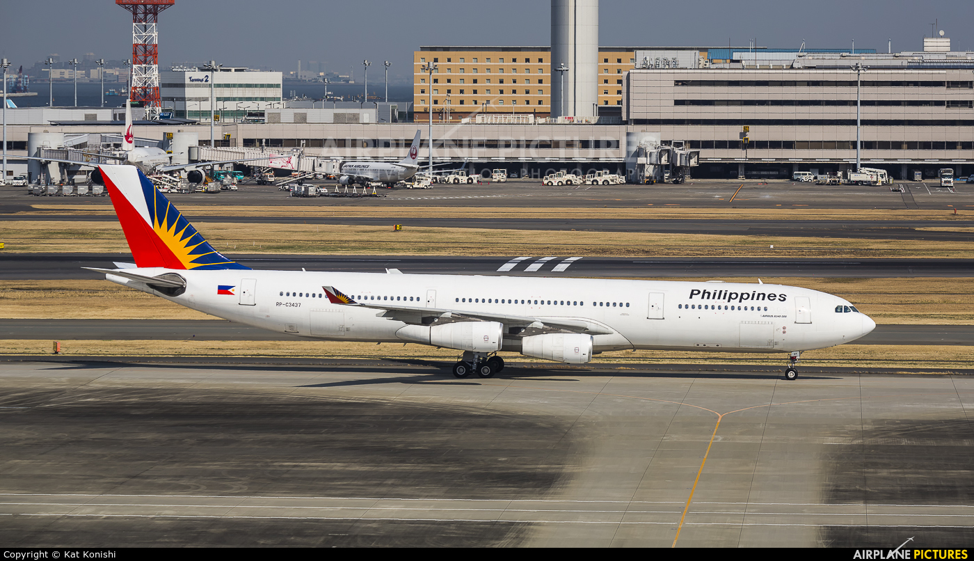 Philippines Airlines RP-C3437 aircraft at Tokyo - Haneda Intl