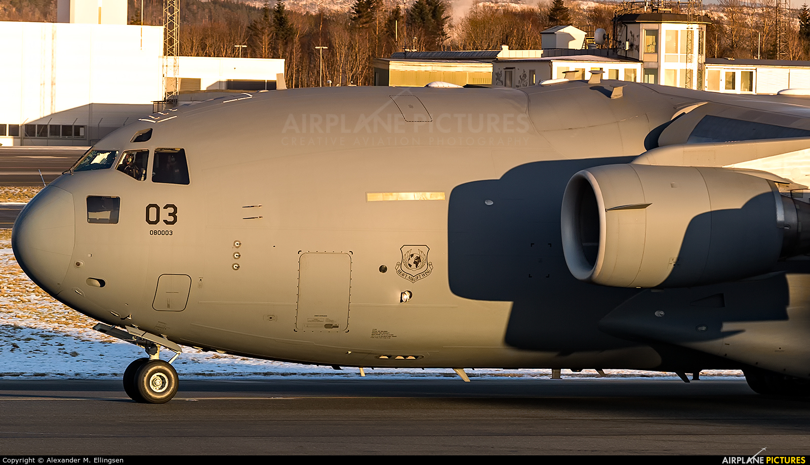 Heavy Airlift Wing (HAW) 080003 aircraft at Bergen - Flesland