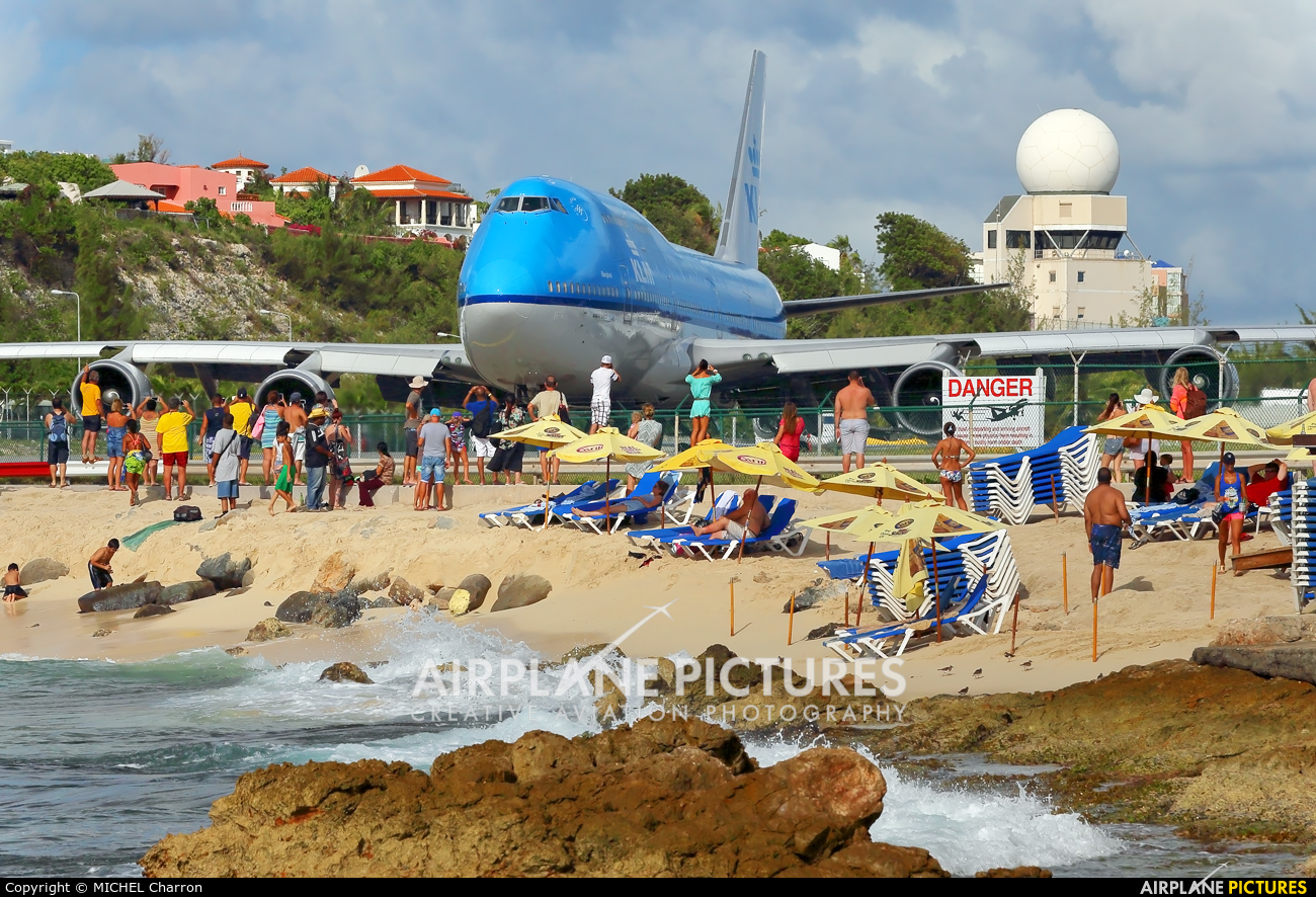 KLM PH-BFB aircraft at Sint Maarten - Princess Juliana Intl