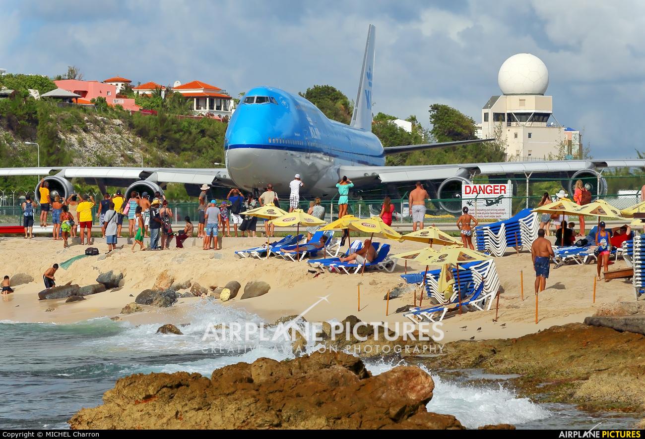 KLM PH-BFB aircraft at Sint Maarten - Princess Juliana Intl