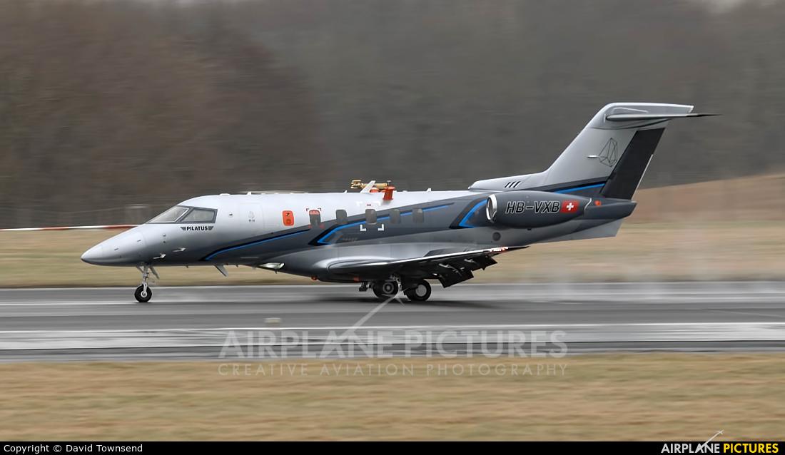 Pilatus HB-VXB aircraft at Prestwick