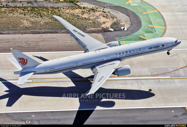 Air China B-2038 aircraft at Los Angeles Intl