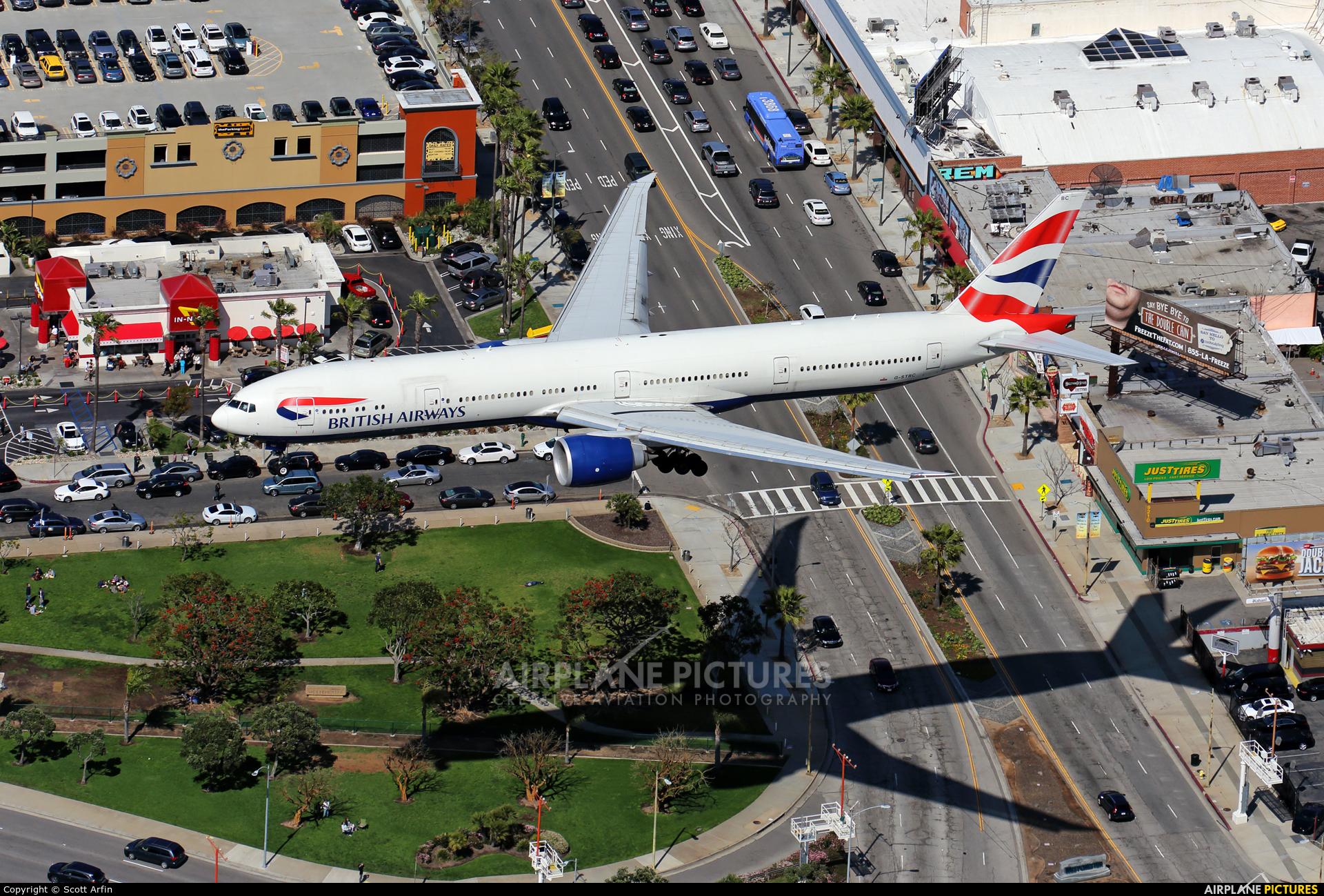 British Airways G-STBC aircraft at Los Angeles Intl