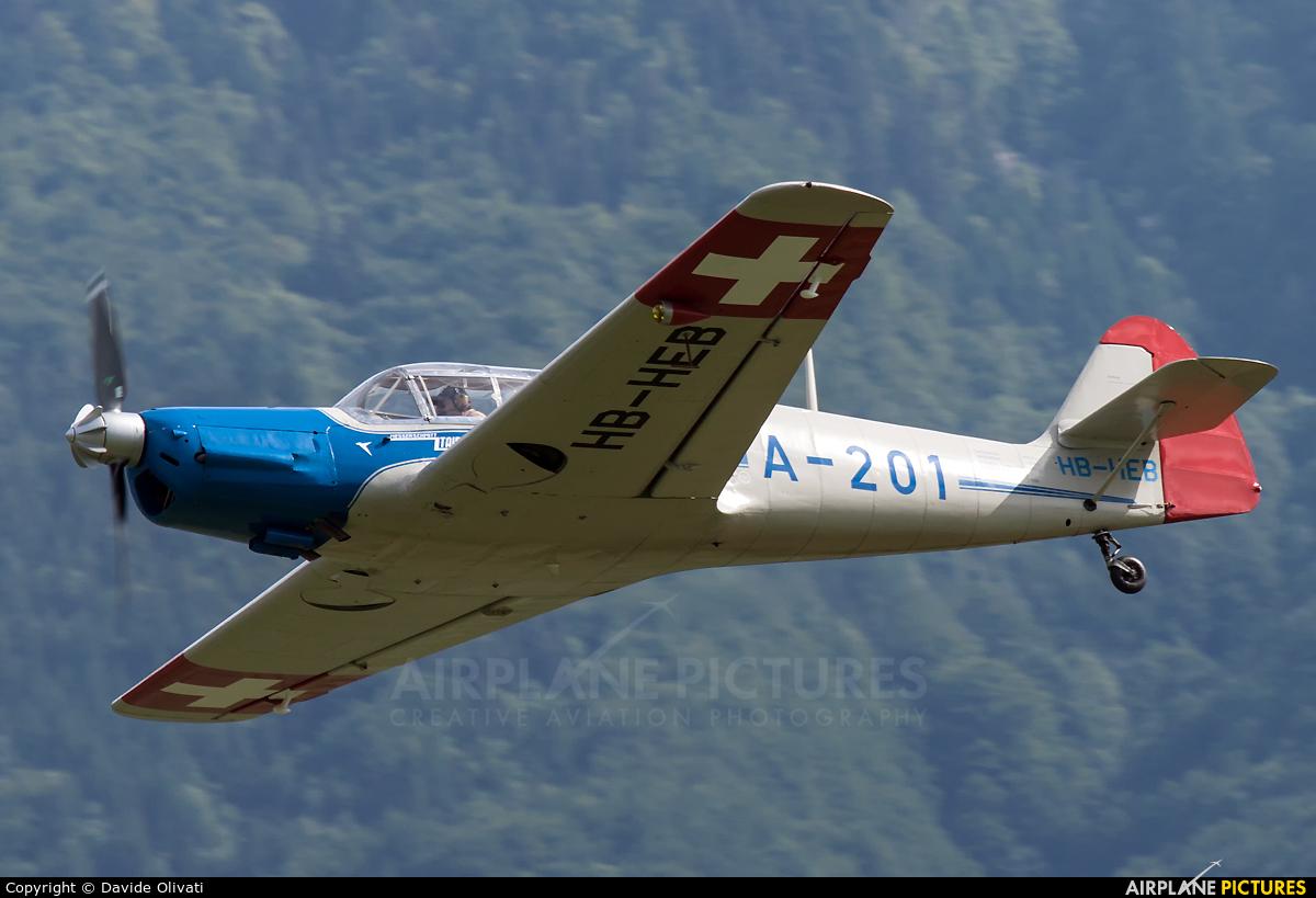 Private HB-HEB aircraft at Locarno