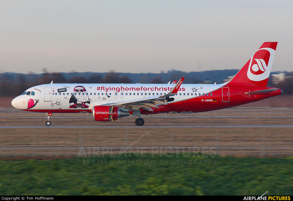 Air Berlin D-ABNM aircraft at Stuttgart