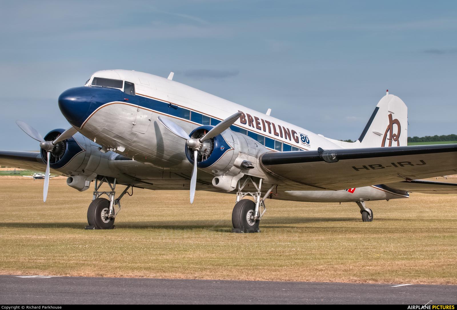 Super Constellation Flyers HB-IRJ aircraft at Duxford