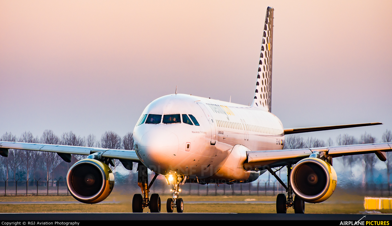 Vueling Airlines EC-KMI aircraft at Amsterdam - Schiphol