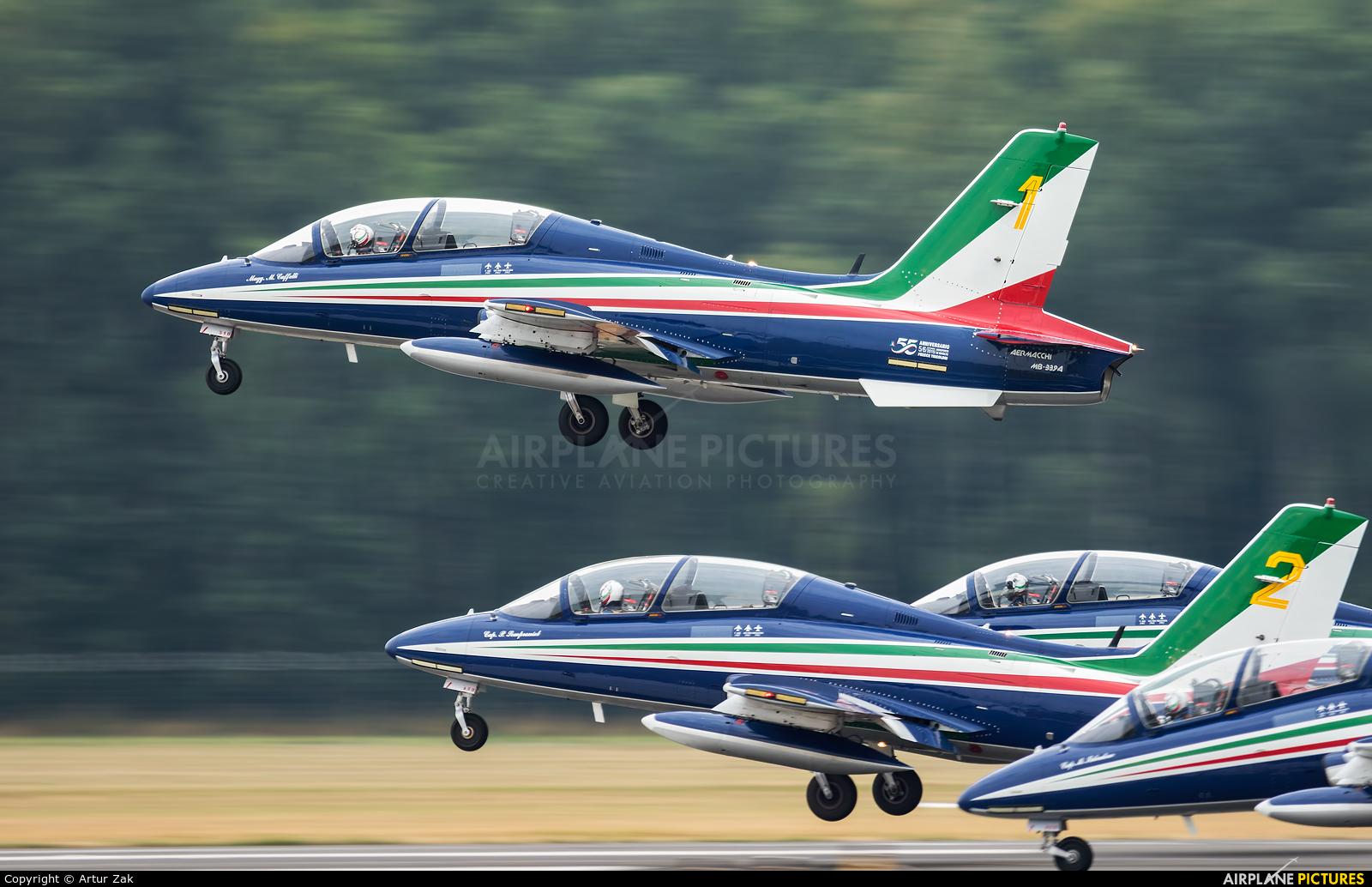"Italy - Air Force ""Frecce Tricolori"" 1 aircraft at Radom - Sadków"
