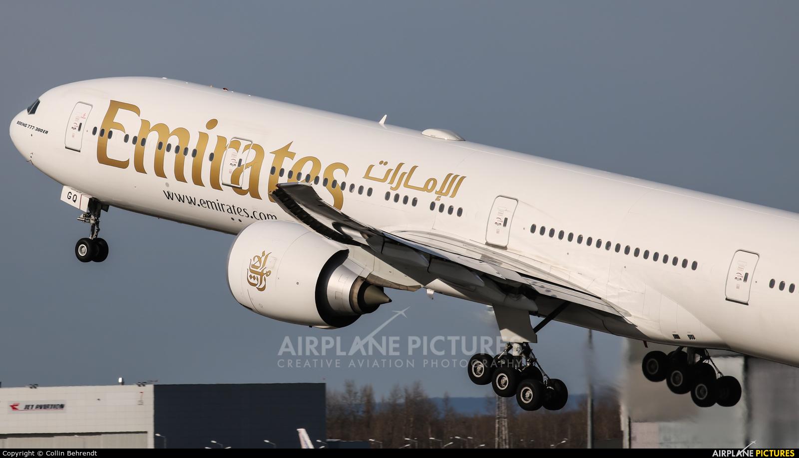 Emirates Airlines A6-EGQ aircraft at Vienna - Schwechat