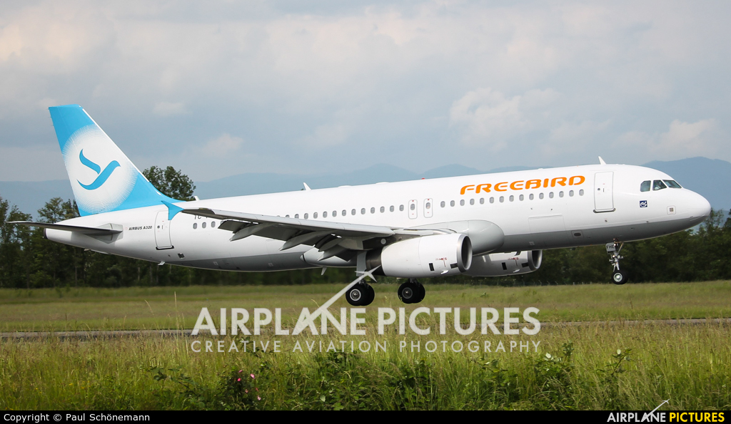 FreeBird Airlines TC-FHE aircraft at Basel - Mulhouse- Euro