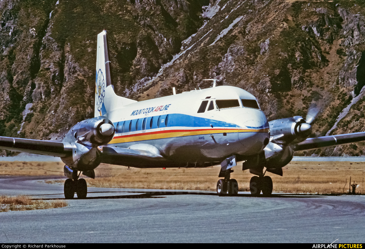 Mount Cook Airlines ZK-CWJ aircraft at Mount Cook