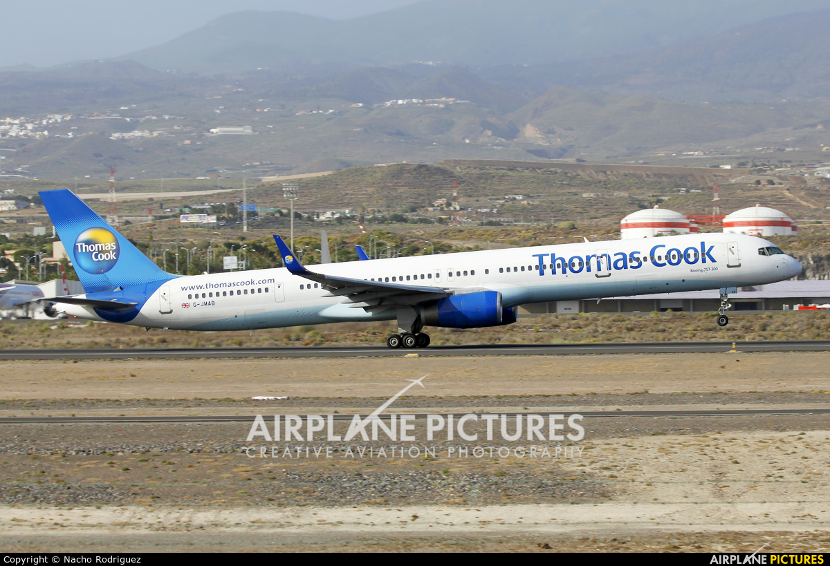 Thomas Cook G-JMAB aircraft at Tenerife Sur - Reina Sofia