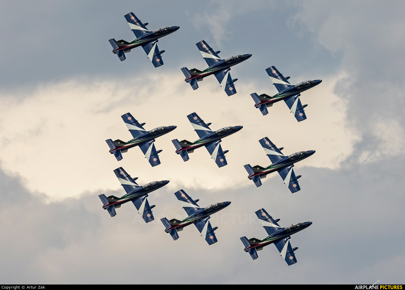 "Italy - Air Force ""Frecce Tricolori"" - aircraft at Radom - Sadków"