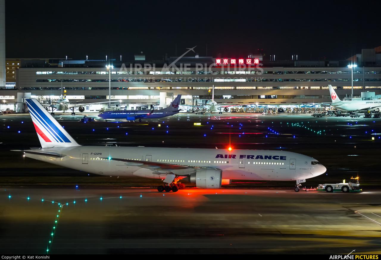 Air France F-GSPR aircraft at Tokyo - Haneda Intl