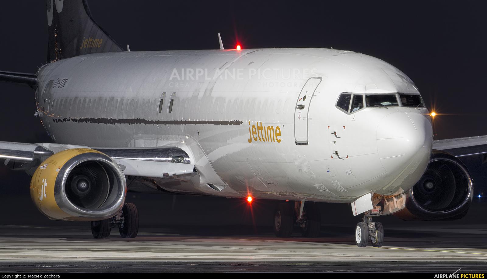 Jet Time OY-JTN aircraft at Gdańsk - Lech Wałęsa