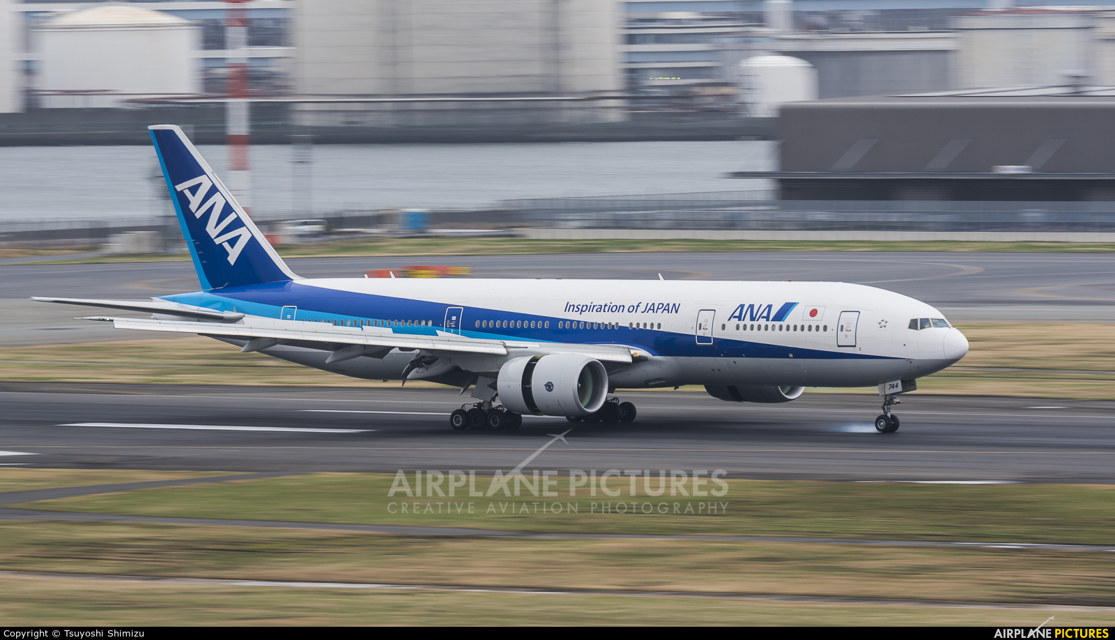 ANA - All Nippon Airways JA744A aircraft at Tokyo - Haneda Intl