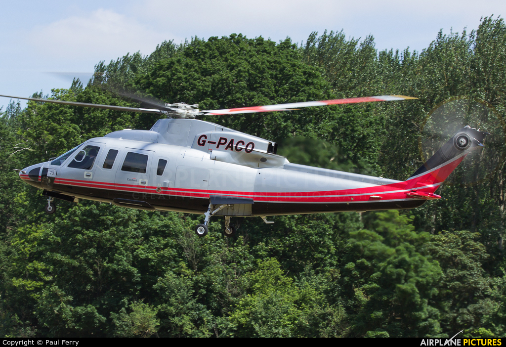 Private G-PACO aircraft at Ascot Racecourse Heliport