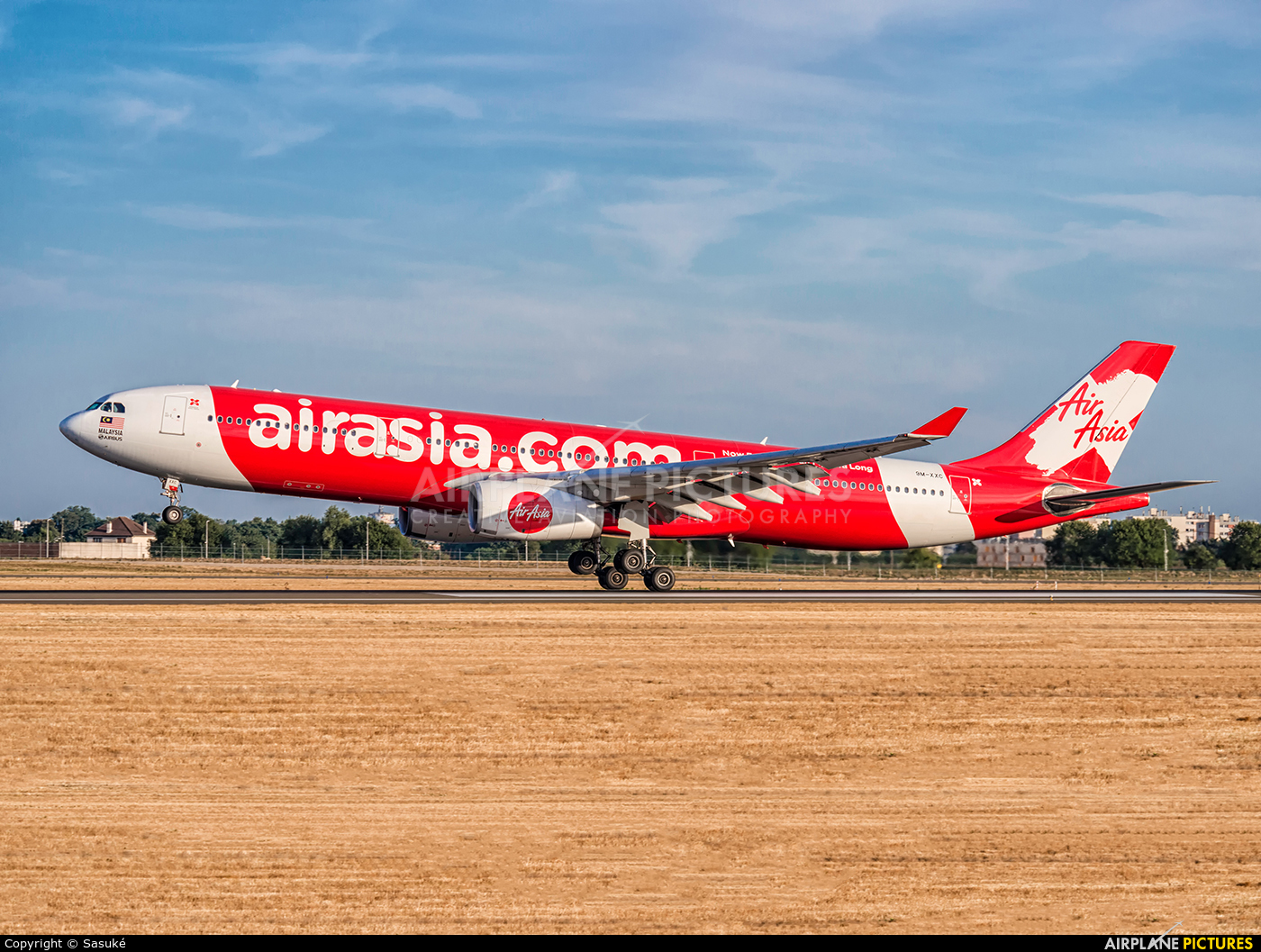 AirAsia X 9M-XXC aircraft at Paris - Orly