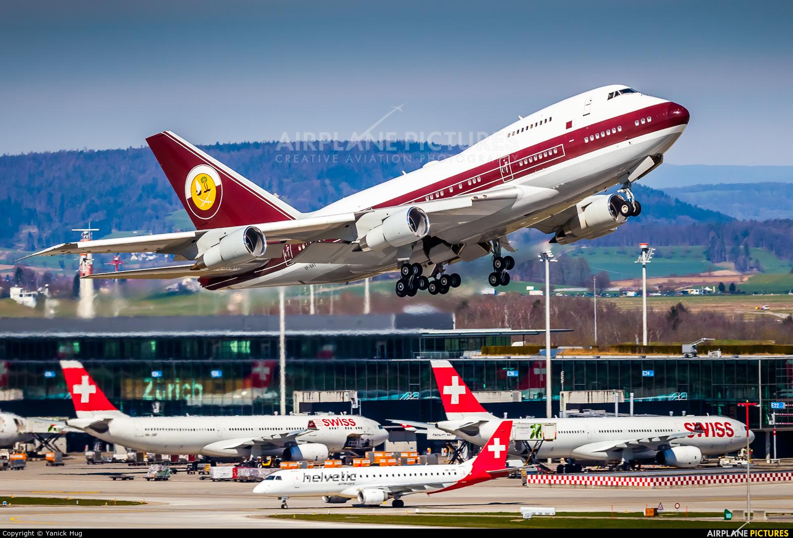 Qatar Amiri Flight VP-BAT aircraft at Zurich