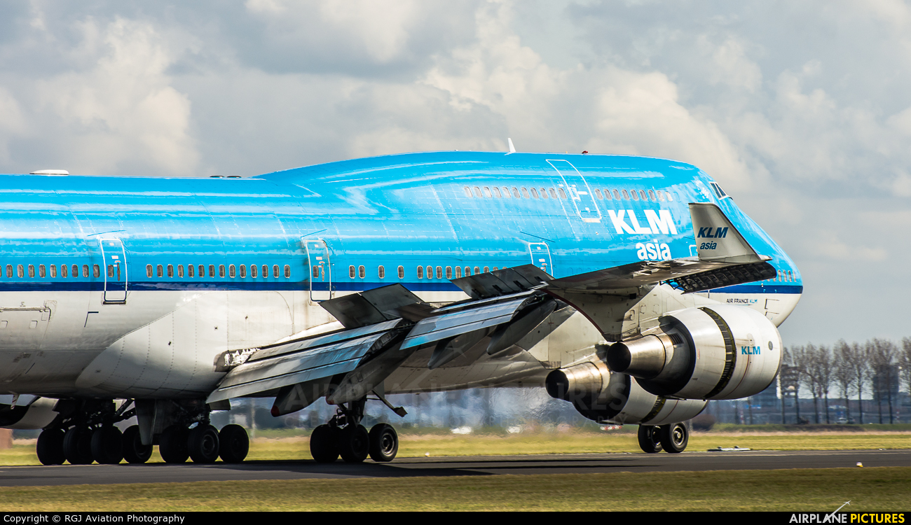 KLM Asia PH-BFP aircraft at Amsterdam - Schiphol