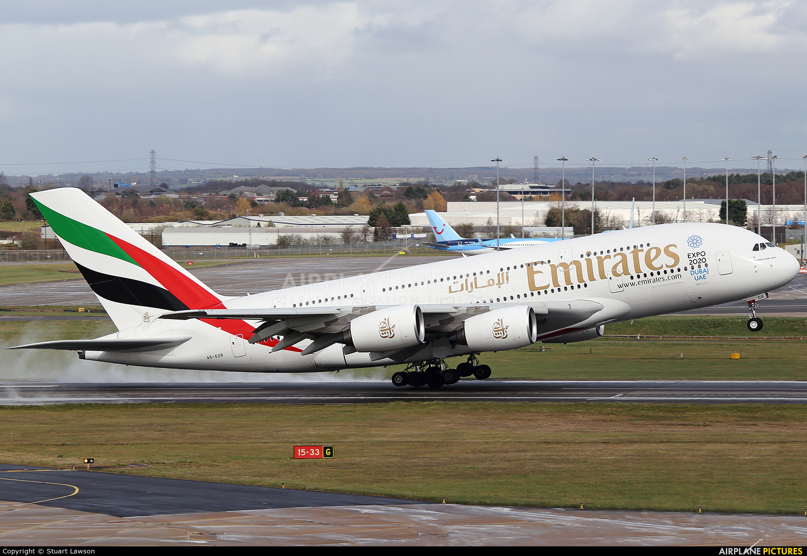 Emirates Airlines A6-EOR aircraft at Birmingham